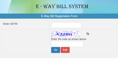 E - Way Bill System Registration Form