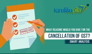 gst cancellation
