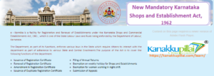 new mandatory karnataka shops and establishment act, 1962 Updates, Rules, Scope
